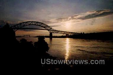 Bourne Bridge - Cape Cod, Massachusetts MA Postcard