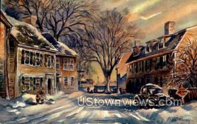 Winter, Franklin St. - Marblehead, Massachusetts MA Postcard