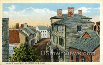Wuaint Old St - Marblehead, Massachusetts MA Postcard