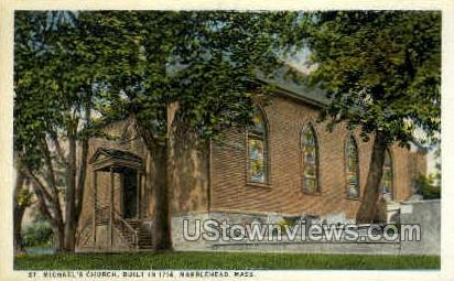 St Michael's Church, 1714 - Marblehead, Massachusetts MA Postcard