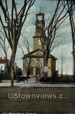 First Baptist Church - Salem, Massachusetts MA Postcard