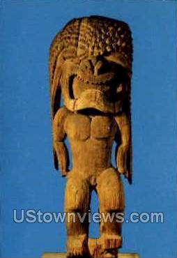 War God, Hawaiian Temple, Peabody Museum - Salem, Massachusetts MA Postcard