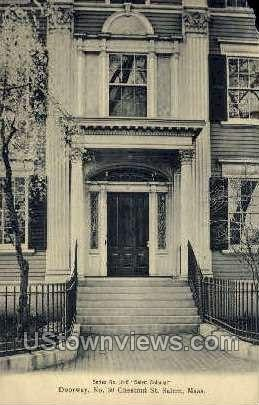Doorway, No 30, Chestnut St - Salem, Massachusetts MA Postcard