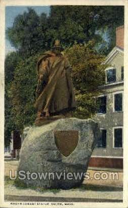 Roger Conant Statue - Salem, Massachusetts MA Postcard