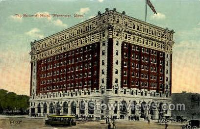 Bancroft Hotel - Worcester, Massachusetts MA Postcard
