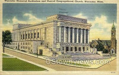 Central Congregational Church - Worcester, Massachusetts MA Postcard
