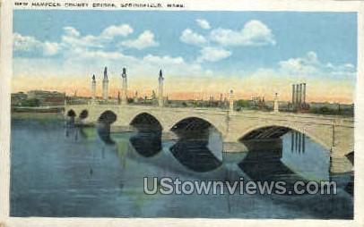 New Hampden County Bridge - Springfield, Massachusetts MA Postcard