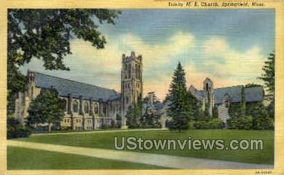 Trinity ME Church - Springfield, Massachusetts MA Postcard
