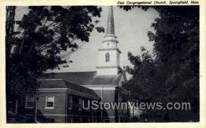 East Congregational Church - Springfield, Massachusetts MA Postcard