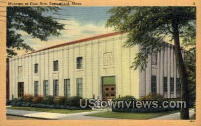 Museum of Fine Arts - Springfield, Massachusetts MA Postcard
