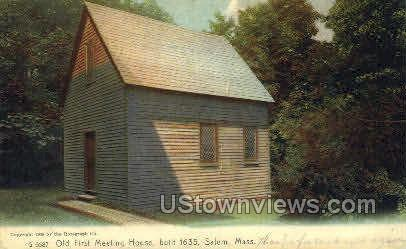 Old First Meeting House, 1635 - Salem, Massachusetts MA Postcard