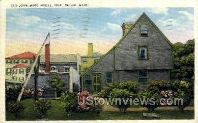 Old John Ward House, 1864 - Salem, Massachusetts MA Postcard