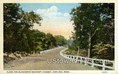 Gloucester Rockport Highway - Cape Ann, Massachusetts MA Postcard