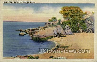 Half Moon Beach - Gloucester, Massachusetts MA Postcard