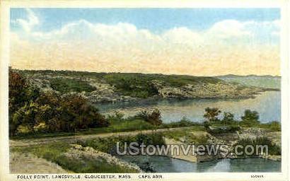 Folly Point, Lanesville - Gloucester, Massachusetts MA Postcard