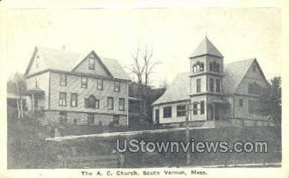 AC Church - South Vernon, Massachusetts MA Postcard