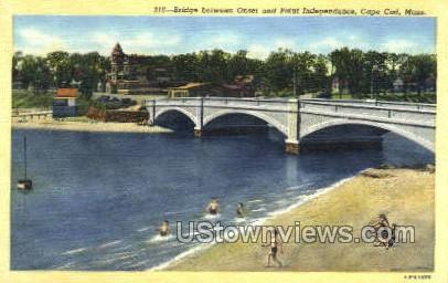 Bridge, Onset & Point Independence - Cape Cod, Massachusetts MA Postcard