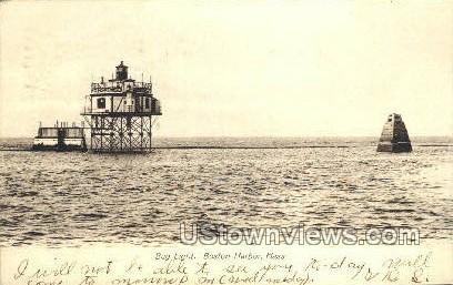 Bug Light - Boston Harbor, Massachusetts MA Postcard