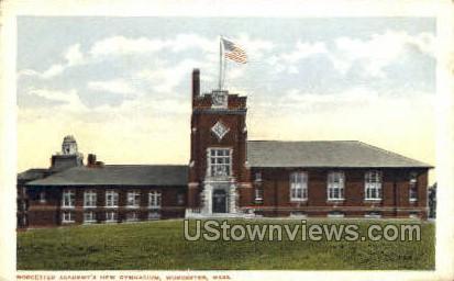 Worcester Academy's New Gym - Massachusetts MA Postcard
