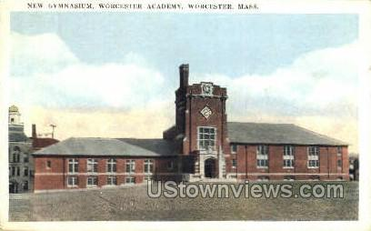 New Gym, Worcester Academy - Massachusetts MA Postcard