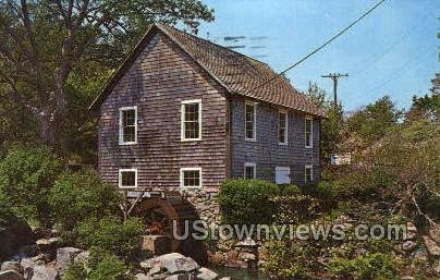 Old Grist Mill - Cape Cod, Massachusetts MA Postcard