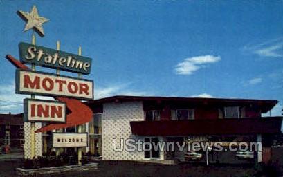 Stateline Motor Inn - Attleboro, Massachusetts MA Postcard