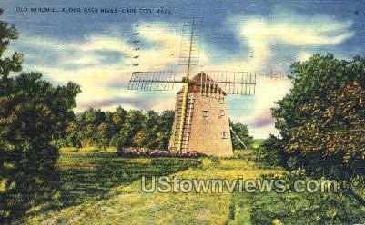 Old Windmill, Bass River - Cape Cod, Massachusetts MA Postcard