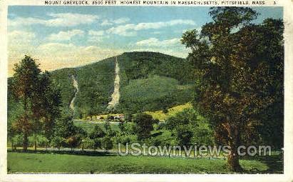 Mouth Greylock - Pittsfield, Massachusetts MA Postcard