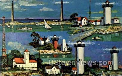 Cape Ann Lighthouses - Massachusetts MA Postcard