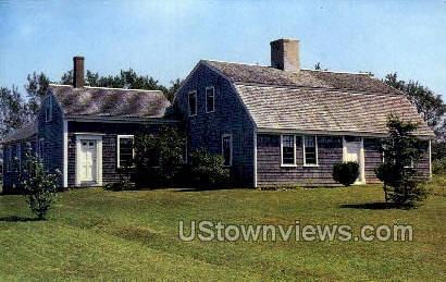 Old Atwood Homestead - Cape Cod, Massachusetts MA Postcard