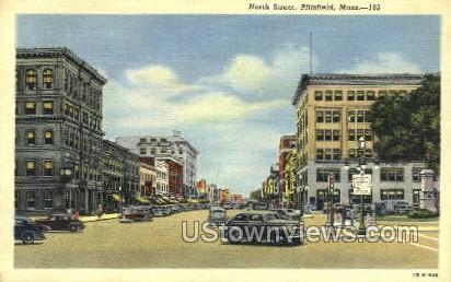 North St - Pittsfield, Massachusetts MA Postcard