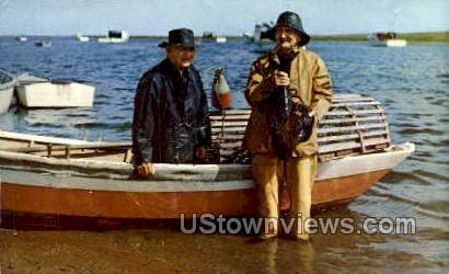 Cape Cod Lobstermen - Massachusetts MA Postcard