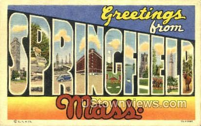 Springfield, Massachusetts     ;     Springfield, MA Postcard
