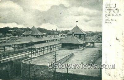 Railroad Station, NY, NH, & HRRR Co - Brockton, Massachusetts MA Postcard