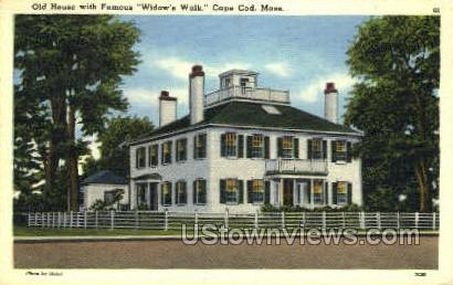 Old House, Widow's Walk - Cape Cod, Massachusetts MA Postcard