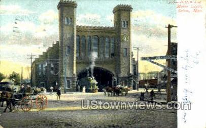 Boston & Maine Depot - Salem, Massachusetts MA Postcard
