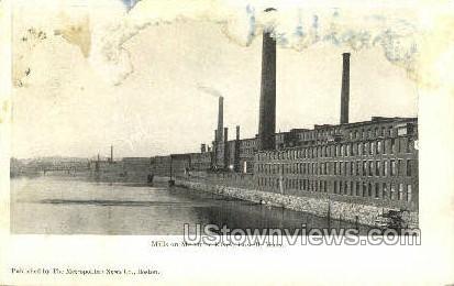 Mills & Merrimac River - Lowell, Massachusetts MA Postcard