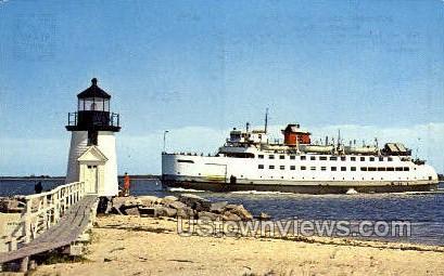 Rounding Brant Point Light - Nantucket, Massachusetts MA Postcard