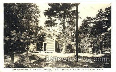 Real Photo - Longellows Wayside Inn - South Sudbury, Massachusetts MA Postcard