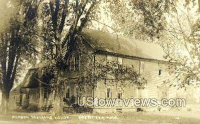 Real Photo - Parson Williams House - Deerfield, Massachusetts MA Postcard