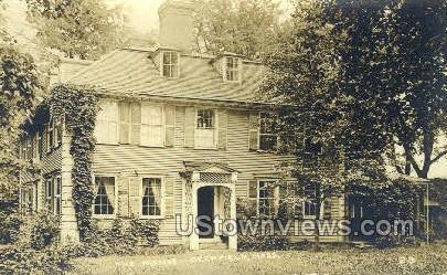 Real Photo - The Manse - Deerfield, Massachusetts MA Postcard