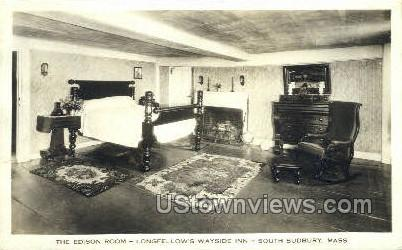 Real Photo - Longfellow's Wayside Inn - South Sudbury, Massachusetts MA Postcard