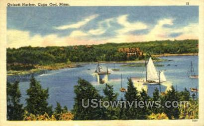 Quisett Harbor - Cape Cod, Massachusetts MA Postcard