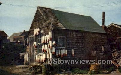 Lobsterman's Shack - Misc, Massachusetts MA Postcard