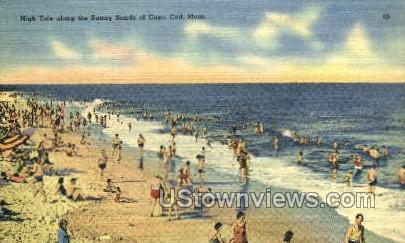 Cape Cod, MA,     ;     Cape Cod, Massachusetts Postcard