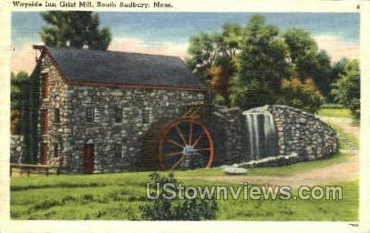 Wayside Inn Grist Mill - South Sudbury, Massachusetts MA Postcard