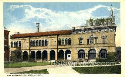 Art Museum - Springfield, Massachusetts MA Postcard