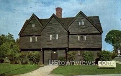 Salem Witch House - Massachusetts MA Postcard