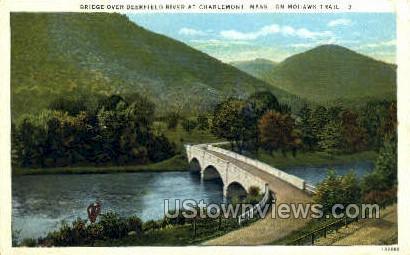 Deerfield Valley - Charlemont, Massachusetts MA Postcard