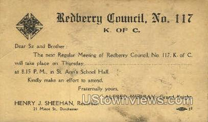 Redberry Council no 117 - Misc, Massachusetts MA Postcard